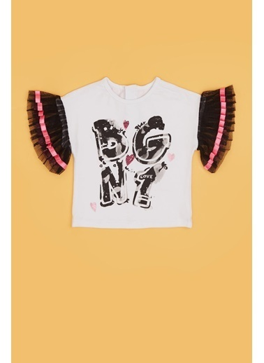 BG Baby Kız Bebek Beyaz T-Shirt 20Pfwbg2510 Beyaz